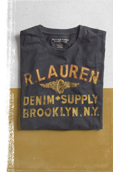 T-Shirt with R. Lauren Denim & Supply Brooklyn, N.Y. text