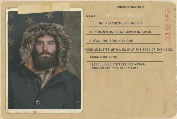 Bearded man wears parka with shearling-trim hood