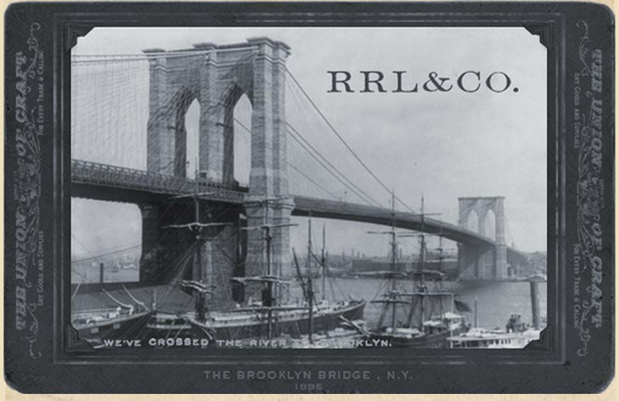 Vintage photograph of the Brooklyn Bridge
