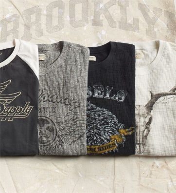 Graphic crewneck sweatshirts in navy, grey & white